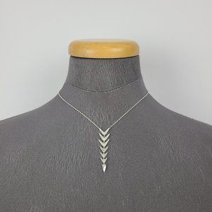 Stella & Dot Silver Drop Arrow Necklace